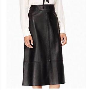 Kate spade leather skirt